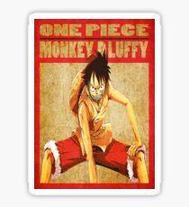 anime - luffy Sticker