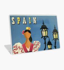 Vintage Travel Poster Spain Laptop Skin