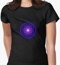 Energetic Geometry - Indigo Prayers Women's Fitted T-Shirt