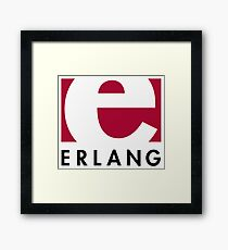 Erlang programming language logo Framed Print