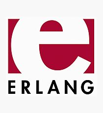Erlang programming language logo Photographic Print