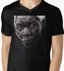 Nelson - Charcoal and Compressed Charcoal on paper Mens V-Neck T-Shirt
