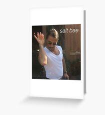 Salt Bae Greeting Card