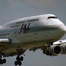 JAL B747 400 by Bob Martin