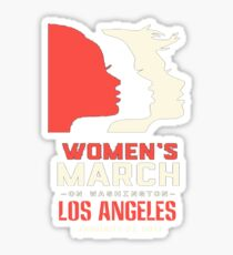 Womens March On Los Angeles Sticker
