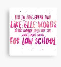 Live like Elle Canvas Print