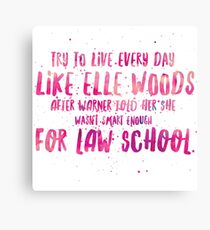 Live like Elle Canvas Print