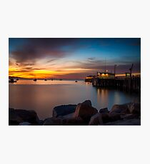 Here She Comes Again Sunrise at Harford Pier Port San Luis Avila Photographic Print