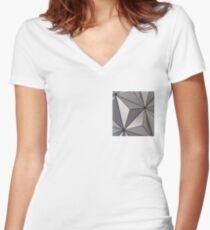 Spaceship Earth Women's Fitted V-Neck T-Shirt