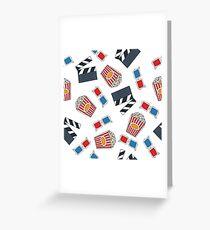 movie and cinema pattern Greeting Card