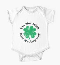 I'm Not Irish But Kiss Me Anyway (black text) Kids Clothes