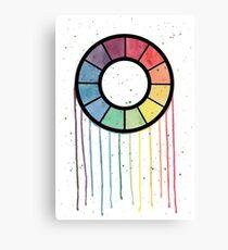 Watercolor Color Wheel Canvas Print
