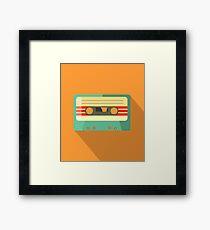 Orange Retro Mixtape Framed Print