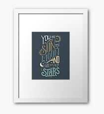 You Are My Sun, My Moon and All My Stars Love Nursery Design Framed Print