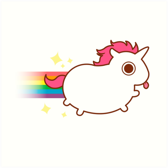 Quot Super Cute Unicorn Quot Art Print By Katiecrumpton Redbubble