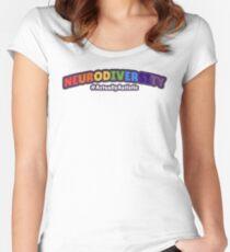 Neurodiversity - #ActuallyAutistic Women's Fitted Scoop T-Shirt