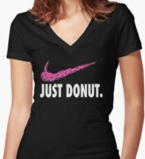 just donut Women's Fitted V-Neck T-Shirt