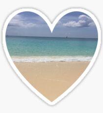 Beach Heart 1 Sticker