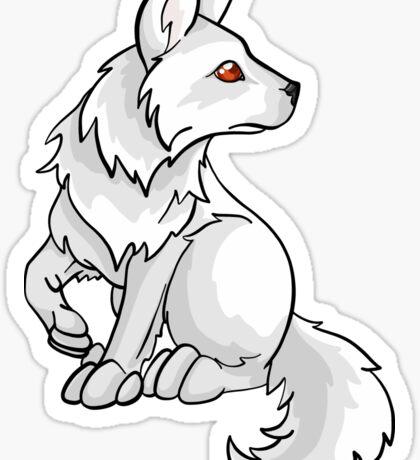 Ghost Direwolf Puppy Design Sticker