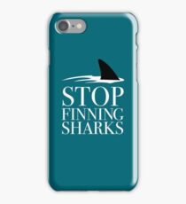 STOP FINNING SHARKS iPhone Case/Skin