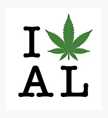 I [weed] Alabama Photographic Print