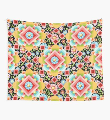 Ombre Chintz Bouquet Wall Tapestry