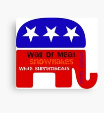 Inauguration/ Wall Of Meat/ Snowflakes/ White Supremacists/ Prayer Shield Canvas Print
