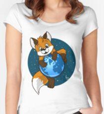 Cute Firefox Women's Fitted Scoop T-Shirt