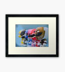 Mighty Morphin POP! Rangers Framed Print