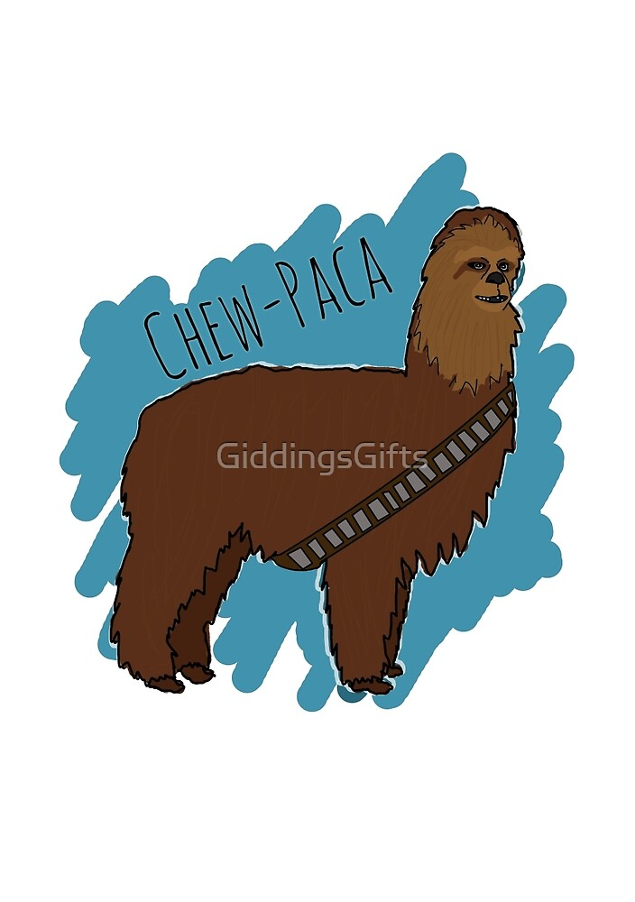 Chewbacca Alpaca by GiddingsGifts