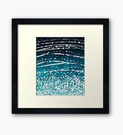 Whale Shark Pattern Framed Print