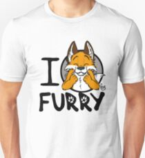 I grrarrrgh furry (fox version) Slim Fit T-Shirt