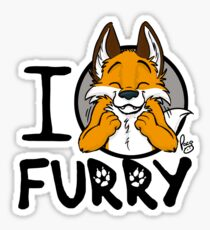 I grrarrrgh furry (fox version) Sticker