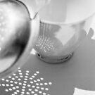 tea cup & strainer by Janine Paris