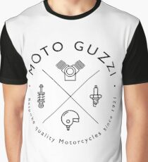 Moto Guzzi Mechanic Logo Graphic T-Shirt