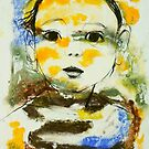 Ari with monoprint by donna malone