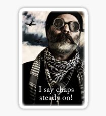 I Say Chaps, steady on! Sticker