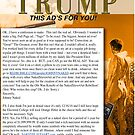 Quarter Page Ad for Donald Trump Published in Artillery Magazine by JohnnyNaked