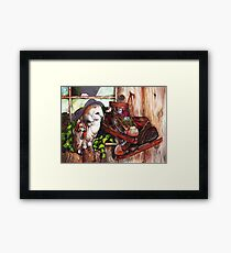 An Unwelcome Visitor Framed Print