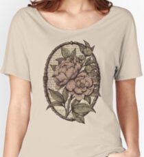 Botanicals - Peonies vintage Women's Relaxed Fit T-Shirt