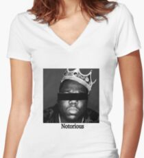 Biggie Smalls Notorious Women's Fitted V-Neck T-Shirt