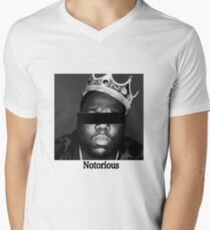 Camiseta para hombre de cuello en v Biggie Smalls Notorious
