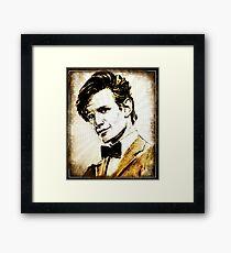 Matt Smith Dr Who Framed Print