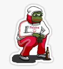 Rare Pepe - Slav Squat Polski Edition Sticker