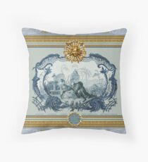 Chinoiserie Blue Throw Pillow