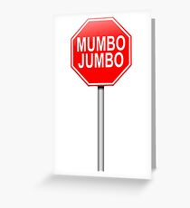 Mumbo jumbo. Greeting Card