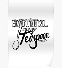 Emotional Range of a Teaspoon Poster