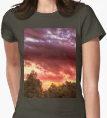 sunset in the park Womens Fitted T-Shirt