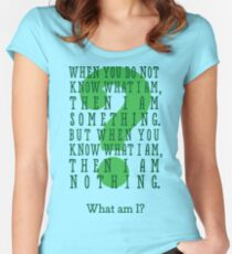 Riddle me this... (tall) Women's Fitted Scoop T-Shirt