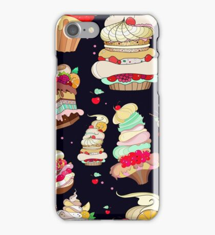 Pattern with the fantastic cakes iPhone Case/Skin